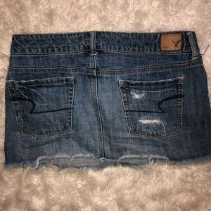 American Eagle Outfitters Skirts - Broken In AEO Mini Distressed Denim Skirt